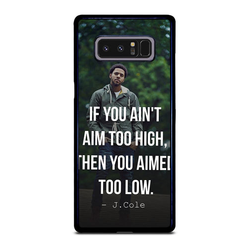 coque custodia cover fundas hoesjes j3 J5 J6 s20 s10 s9 s8 s7 s6 s5 plus edge D28052 J COLE QUOTE #1 Samsung Galaxy Note 8 Case
