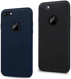MAXFE.CO 2X Cover iPhone 7 Custodia Silicone Morbido TPU