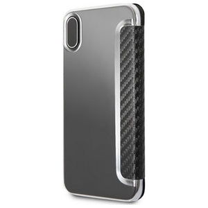 MERCEDES CUSTODIA MEFLBKPXCFBK FLIP COVER CASE DYNAMIC CARBON LOOK
