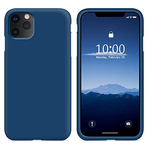 SURPHY COVER IPHONE XS Max Silicone Custodia Blu Orizzonte(Full