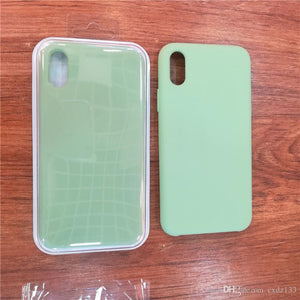 Silicone LOGO custodia for iPhone 7 8 Plus