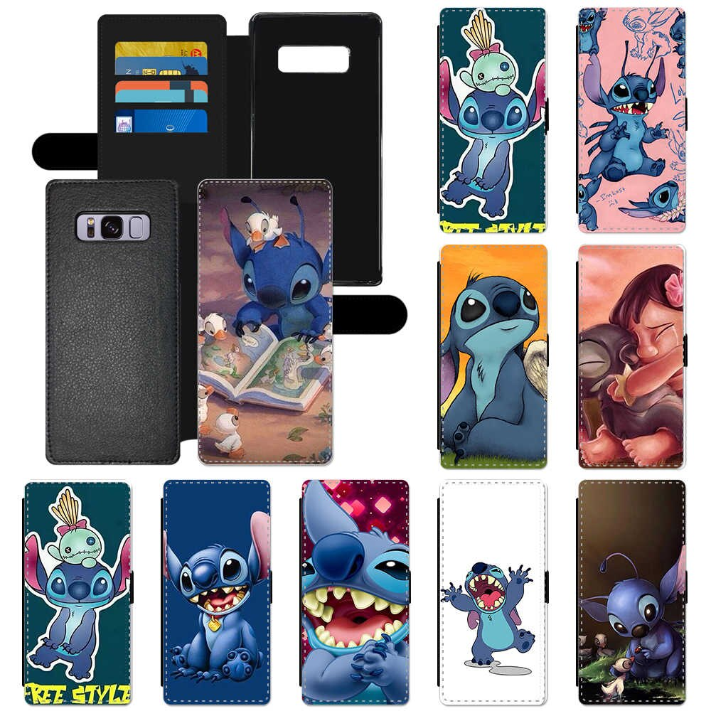Stitch Flip Wallet Cover Phone custodia