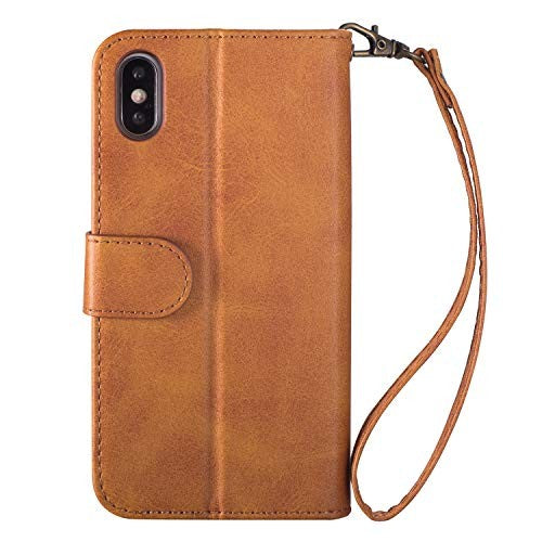 Yobby Cover per iPhone XR Vintage Cerniera Custodia a Libro