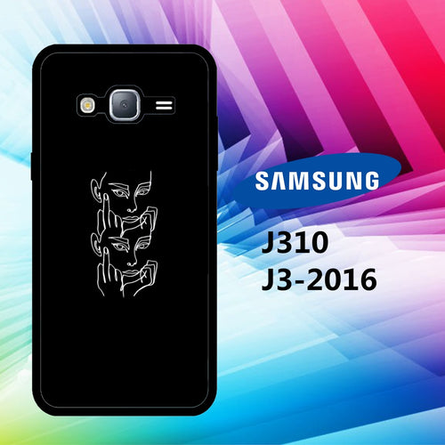 custodia cover J3 2016 J310 J3 2017 J330 J5 2016 J510 J5 2017 J530 case Y3451 black aesthetic wallpaper 30qX4