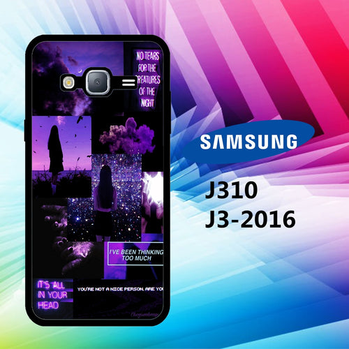 custodia cover J3 2016 J310 J3 2017 J330 J5 2016 J510 J5 2017 J530 case Y3564 black aesthetic wallpaper 30bJ2