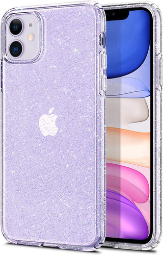 cover iphone 11 purple glitter