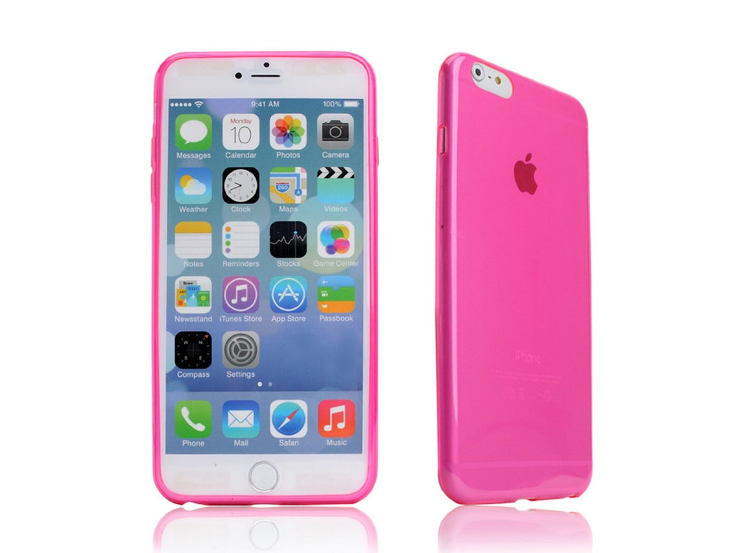 cover ultrasottile iPhone 5 0.3mm rosa custodia trasparente fucsia