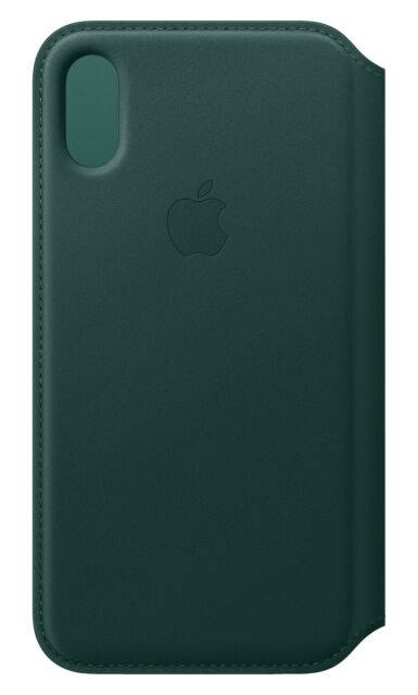 custodia originale Apple Folio Case iPhone XS Forest Green cover