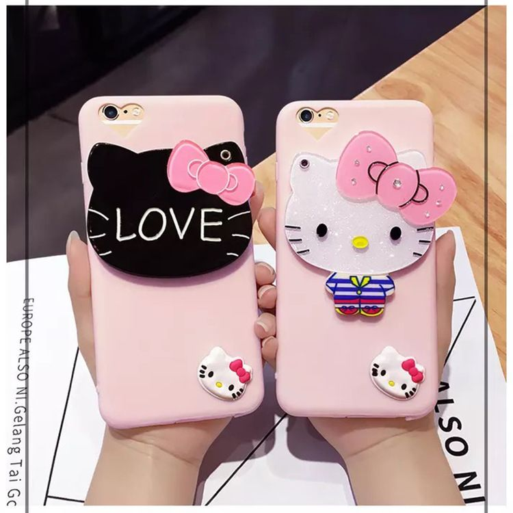 iPhone 6 Plus Mirror custodiaCartoon Cat
