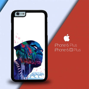 Black Panther Art Flower L2764 custodia cover iPhone 6 Plus, 6S Plus