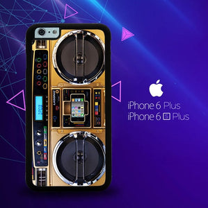 Boombox Ghetto Blaster Funny Y0510 custodia cover iPhone 6 Plus, 6S Plus