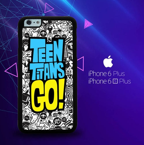 teen titans go W4212 custodia cover iPhone 6 Plus, 6S Plus