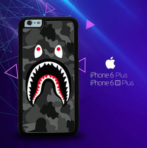 bape shark hoodie camo W5258 custodia cover iPhone 6 Plus, 6S Plus