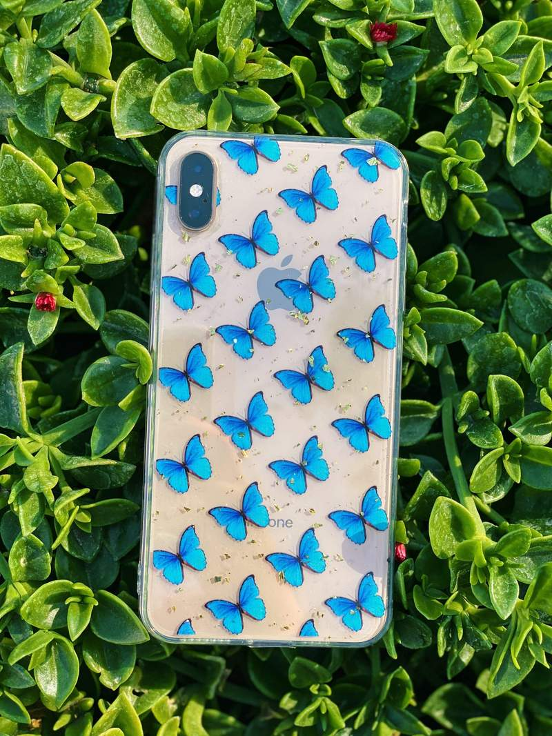 phone cover blue butterfly iphone