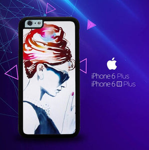 Audrey Hepburn Art Artist E1080 custodia cover iPhone 6 Plus, 6S Plus
