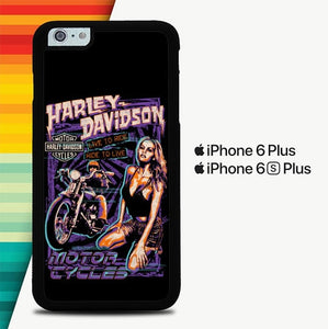 Harley Davidson Live to Ride and Ride to Live P0226 custodia cover iPhone 6 Plus, 6S Plus