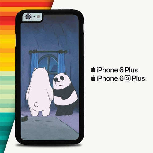 We Are Bare Bears Looking Out The Window P0249 custodia cover iPhone 6 Plus, 6S Plus