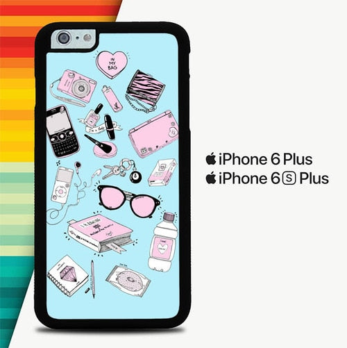 Fill The Bag Girl P0284 custodia cover iPhone 6 Plus, 6S Plus