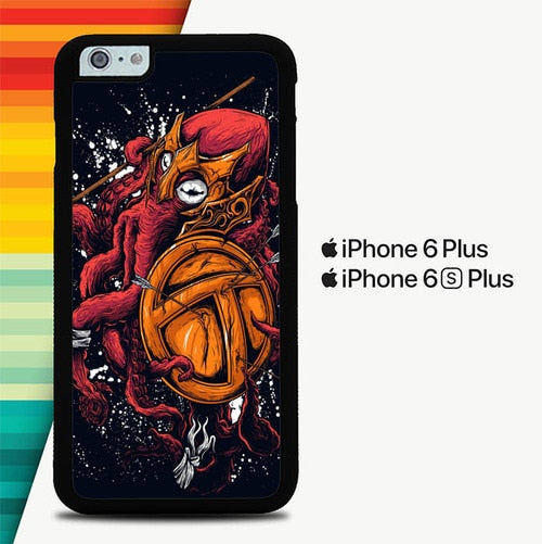 Queen Octopus P0353 custodia cover iPhone 6 Plus, 6S Plus