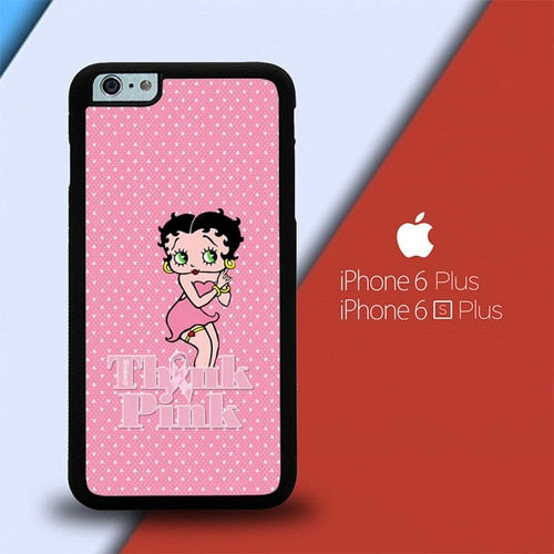 Betty Boop Think Pink P0609 custodia cover iPhone 6 Plus, 6S Plus