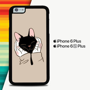 Cat Cute P0773 custodia cover iPhone 6 Plus, 6S Plus