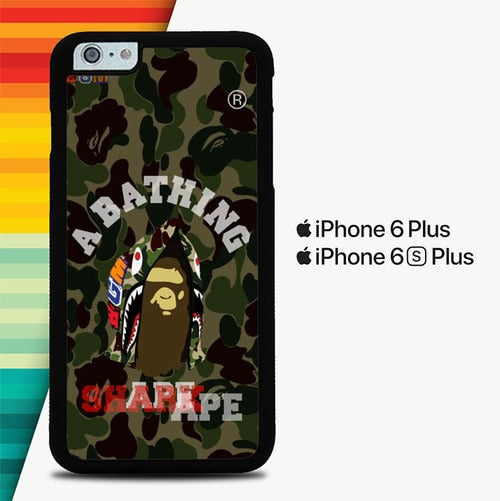 Shark Hoodie Bape Head P0915 custodia cover iPhone 6 Plus, 6S Plus