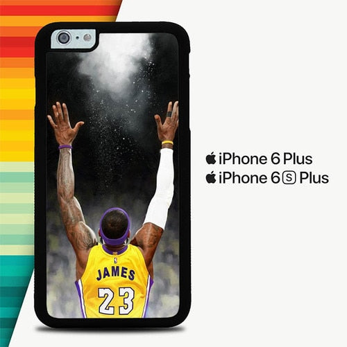 Lebron James Powder Lakers P1601 custodia cover iPhone 6 Plus, 6S Plus