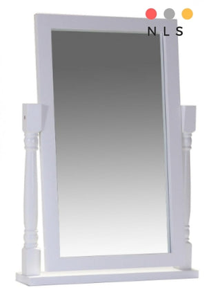 Chelsea White Dressing Table Mirror - North Lakes Sofas