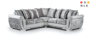 Genoa Crushed Velvet Corner Sofa - North Lakes Sofas