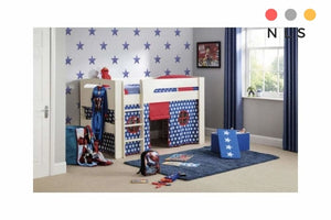 Kids Pluto Blue/Pink Star tent bed - North Lakes Sofas