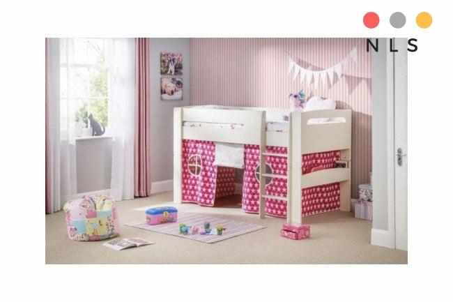 Kids Pluto Blue/Pink Star tent bed