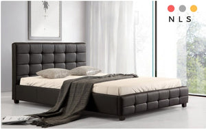 Lattice PU Bed - North Lakes Sofas
