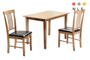 Massa Small Solid Oak Dining Table+ 2 Chairs - North Lakes Sofas