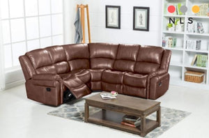 Michigan LeatherAire Corner Collection - North Lakes Sofas