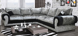 Millican Crushed Velvet Corner Sofa - North Lakes Sofas