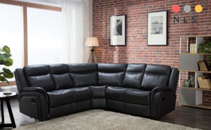 New Hampshire Leather Aire Corner Collection - North Lakes Sofas