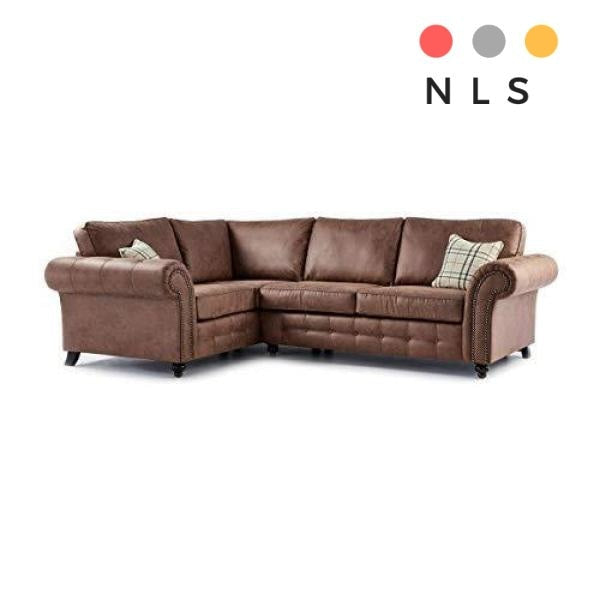 Oakland Leather Corner Sofa