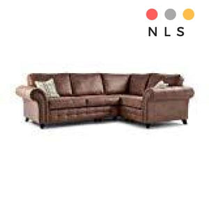 Oakland Leather Corner Sofa - North Lakes Sofas