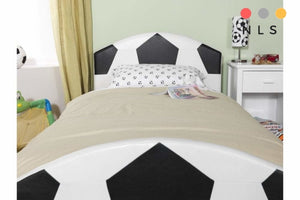 Pallone Single Black And White Single Bed - North Lakes Sofas