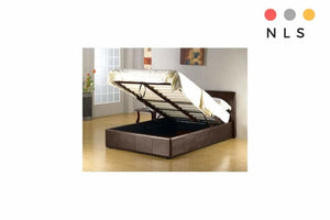 Prado Black/Brown Ottoman Bed Single/Double/King - North Lakes Sofas