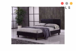 Prado Brown leather Bedframe Single/Double/King - North Lakes Sofas