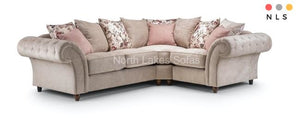 Roma Fabric Chesterfield Corner Collection - North Lakes Sofas