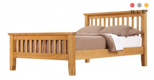 Solid Oak, Light Oak Bed - North Lakes Sofas