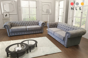 The Imperial Chesterfield Fabric Suite Collection - North Lakes Sofas