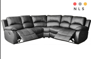 Valencia Leather Recliner Corner Collection - North Lakes Sofas
