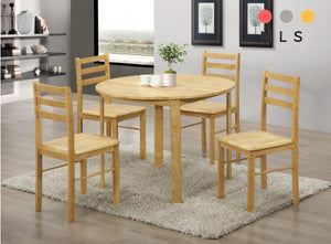 York Dining Set with 4 Chairs Natural Oak - North Lakes Sofas