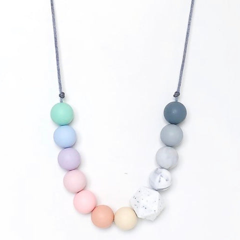 Pastel Rainbow Teething Necklace