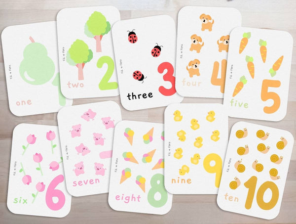 Counting Flashcards Numbers 1-10