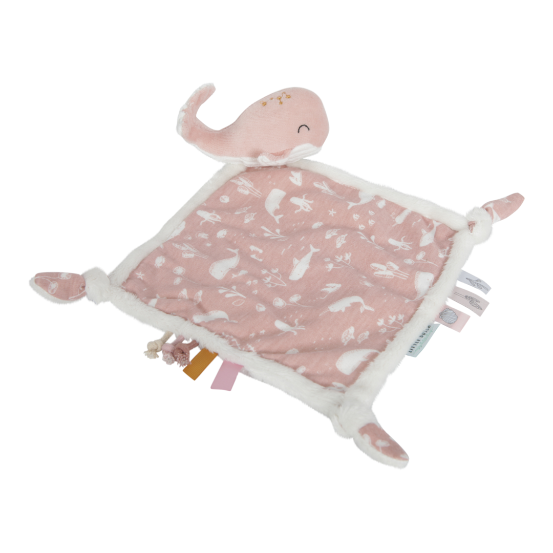 Whale Cuddle Cloth - Pink