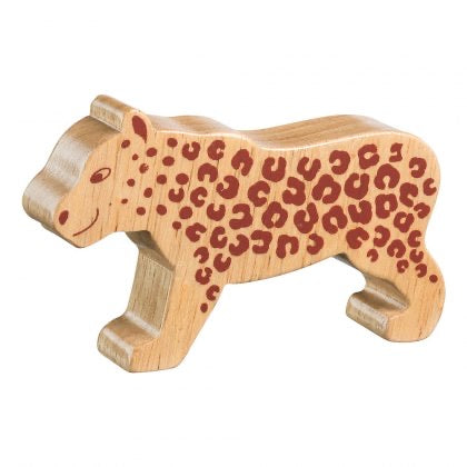 Natural Wooden Leopard